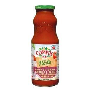 Polpa de tomate, cebola e alho Compal 500gr