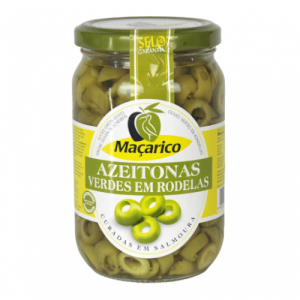Azeitonas Verdes Laminadas Maçarico - 345g