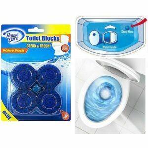Blue Toilet Blocks-  4pcs