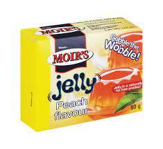 Gelatina Moirs peach-80g